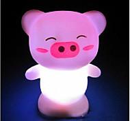 Multicolor Cute Pig Pattern Night Light