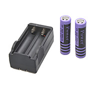 Ultro Fite Battery Charger for  18650 Rechargeable Li- ion Battery(Included 2x5800mAh 3.7V)