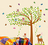 Large Colorful Tree Deers PVC Wall Stickers Wall Art Decals