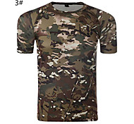 Bionic Camouflage Pattern 100% Cotton Sun protection Waterproof  Anti Ultraviolet Breathable Fast Dry T Shirt