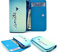 Romantic Wallet Pattern PU Leather Case Card Money for Samsung Mobile Size<14.6*8*2.2