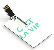16gb est la vie la conception carte lecteur flash USB