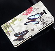 For Samsung Galaxy Case Card Holder / Wallet / with Stand / Flip Case Full Body Case Butterfly PU Leather SamsungS Advance / Win / Grand