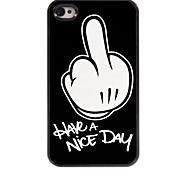 iPhone 4/4S/iPhone 4 - Cover-Rückseite - Grafisches Design/Cartoon Motiv/Totenkopmotiv/Metallic Design/Spezielles Design/Neuartig (