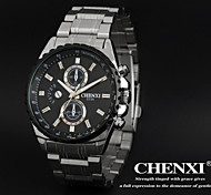 CHENXI® Men's Sports Design Dress Watch Japanese Quartz Water Resistant Silver Steel Strap