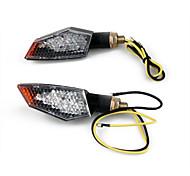 2 X Motorcycle 18 LED Stalk Turn Signals Indicators Yellow Light