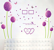 pissenlit violet sticker mural PVC