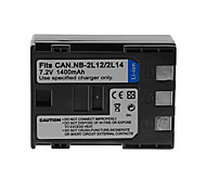 1400mAh Camera Battery Pack for CANON NB-2L12/NB-2L14