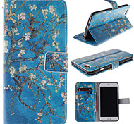The Old Tree Flower Design PU Leather Full Body Case with Card Slot for iPhone 6