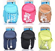 Double Lattice Wrist Bag PVC Material Pearl Armbands Zipper Hook Function Waterproof for Galaxy S6/S5/S4/S3