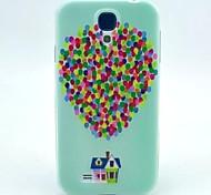 patrón casa globo TPU suave para mini i9190 Samsung Galaxy S4