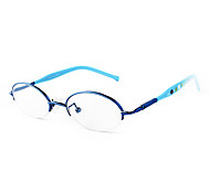 [Free Lenses] Metal Oval Half-Rim Fashion Prescription Eyeglasses
