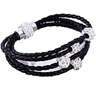 European Style Hot Fashion Leather Woven Shambhala Bracelet