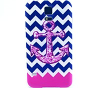 Pink Anchor Pattern TPU Soft Case for S5 I9600