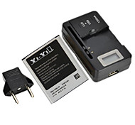 "YI-YI™ Replacement 2100mAh Li-ion Battery with EU Plug 0.8"" LCD Battery Charger for Samsung Galaxy S3 I9300"