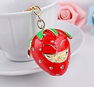 Ornament Set auger Strawberry Metal Pendant Jewelry