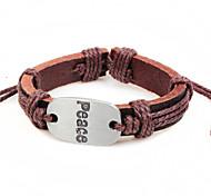 2015 Fashion Jewelry Peace Sign Peace Alloy Bracelet