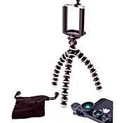 4 in 1 Kits Mini Travel Tripod +Phone Holder + Fish Eye Lens + Wide Angle & Macro Lens for Samsung/iPhone and Others