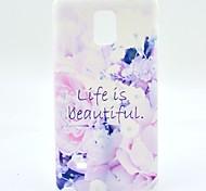 das Leben ist schön Blumenmuster ultradünnen tpu weiche Tasche für Samsung-Galaxieanmerkung 4