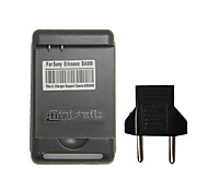 Minismile™ US Plug AC Power Battery Charger with USB Power Outlet and Eu Plug for Sony Xperia S / LT26i / LT25c / LT25i