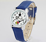 Hot sell famous brand Disney  genuine leather band  fashion cartoon children quartz wacthes DC-54021