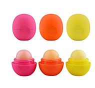 3gs 3pcs runden Ball feuchtigkeitsspendende Lippenbalsam-Bereich Lippe Pomade Lippenbalsam Lippenstift verschönern