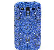 samsung galaxy grand i9060 neo flores azules compatibles figura con diamante diseño TPU caso de la contraportada suave