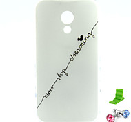 For Motorola Case Pattern Case Back Cover Case Word / Phrase Soft TPU Motorola