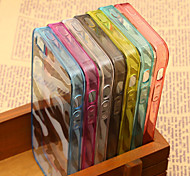 Camouflage Pattern Translucent TPU Material Protective Shell for iPhone 4/4S (Assorted Colors)