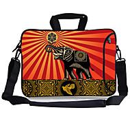 "Elonbo Peace Elephant Carrying Handle & Removable Shoulder Strap Laptop Bag for 13"" Macboob pro HP"