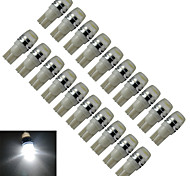 JIAWEN® 20pcs T10 1.5W 90LM 6000-6500K Cool White  Side Maker Lamp LED Car Light (DC 12V)
