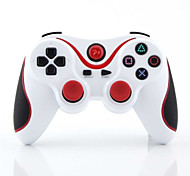 draadloze bluetooth game controller voor de ps3 (wit)