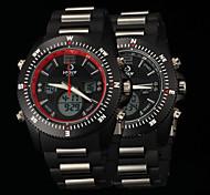 negócio movimento duplo movimento anti impermeáveis novos homens da moda outono marcação grande relógios lcd bwl815
