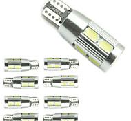10 Stück DING Yao Dekorativ Lichtdekoration T10 3.5 W 300 LM K 10 SMD 5730 Kühles Weiß/Rot/Blau/Gelb DC 12 V