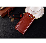 Lanyard Card PU Leather Case with Kickstand for Samsung Galaxy S3 I9300 (Assorted Colors)