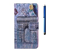 Best Wishes Pattern PU Leather Case with Stand and Pen for Wiko Rainbow