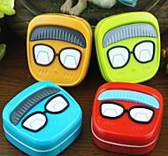 bande dessinée mr.glasses cas caractère élégant bonbons en plastique de couleur des lentilles de cantact (couleur aléatoire)