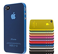 Thin Silicone Transparent Case Cover for iPhone 4/4S(Assorted Colors)