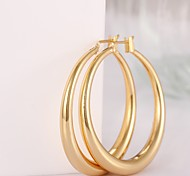 Simplicity Delicate Gold-Plated Multicolor Gold-Plated Hoop Earrings(Golden,Rose Gold(1Pair)