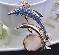 Lovely Set Auger Opal Small Shark Key Chain