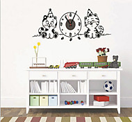 3D DIY Cats Clock Wall Sticker 70 X 50 X 0.1cm (1x AA Battery)