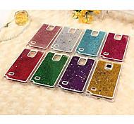 farbigem Sand Sterne Pailletten rückseitige Abdeckung für Samsung-Galaxieanmerkung 4 Fall (Farbe sortiert)