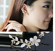Diamond Opal petals Alloy Ear Cuffs (A,B)(1pc)
