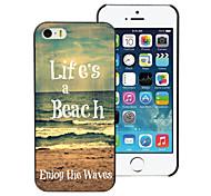 la vida es un caso difícil playa diseño PC para el iphone 5 / 5s