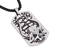 Fashion Skull Horns Pendant Necklace