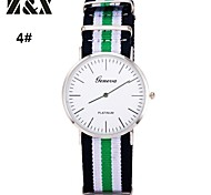 Men's Fashion Stripe Quartz Analog Fabric Bracelet Watch(Assorted Colors)