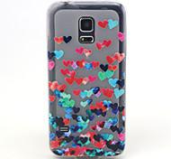 4,5-Zoll-Liebesmuster tpu weicher Fall der rückseitigen Abdeckung für Samsung-Galaxie s5 Mini