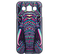 Elephant Head Pattern PC Hard Case for Samsung Galaxy E7