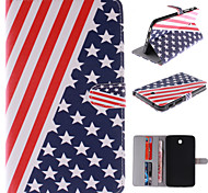 el diseño de la bandera americana de la PU cuero caso de cuerpo completo con soporte y ranura para tarjeta para Samsung Galaxy Tab P3200 3