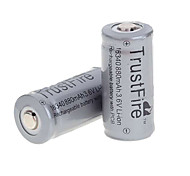 TrustFire 3.7V Rechargeable 880mAh 16340 Lithium Ion  Battery (2PCS)